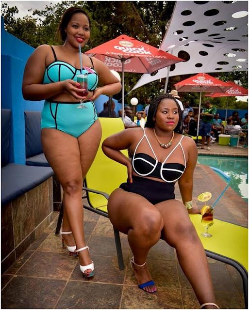 African women shaking bikini