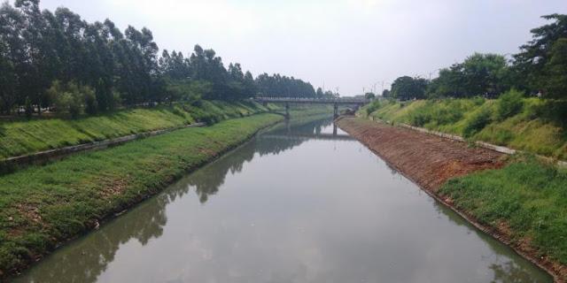 Kanal Banjir Timur Kini Lebih Rapi dan Hijau