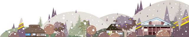 風景イラスト、WEBバナー素材、和風、和風風景イラスト、イラストレーター検索、イラスト制作、四季のイラスト