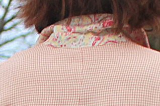 Paisley print under collar for a pop of color