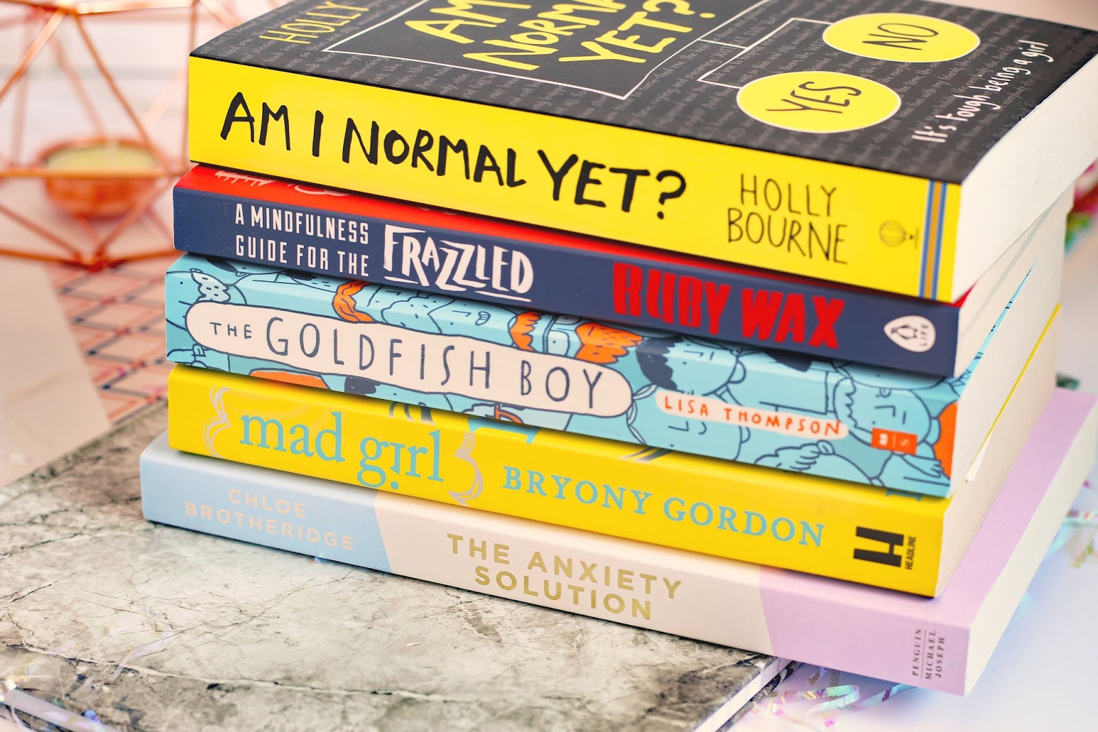 My Top Five Mental Health Books anxiety self help OCD depression mental illness wellbeing help support blogger UK  WHsmiths Waterstones Amazon