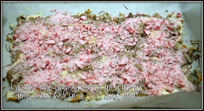 Layered up Peppermint Bark Layers