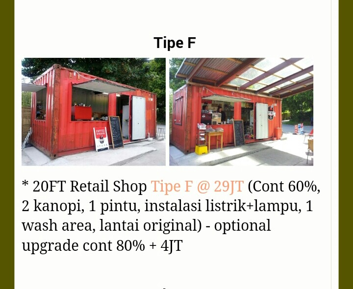 shipping container store Tipe F - Harga Container, Jual ...