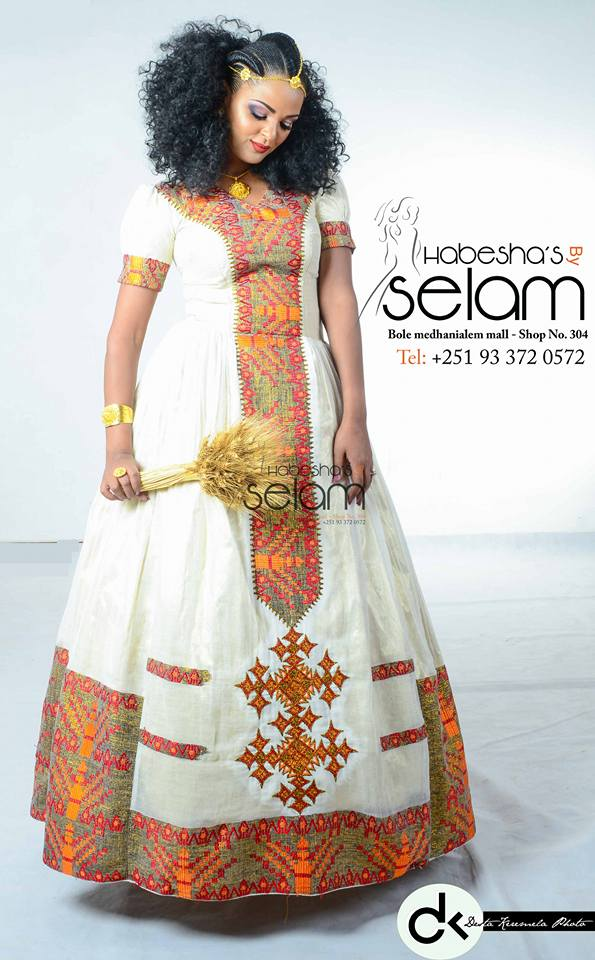 Her big day meet special guest designer selam tekie of for Ethiopian traditional wedding dress designer