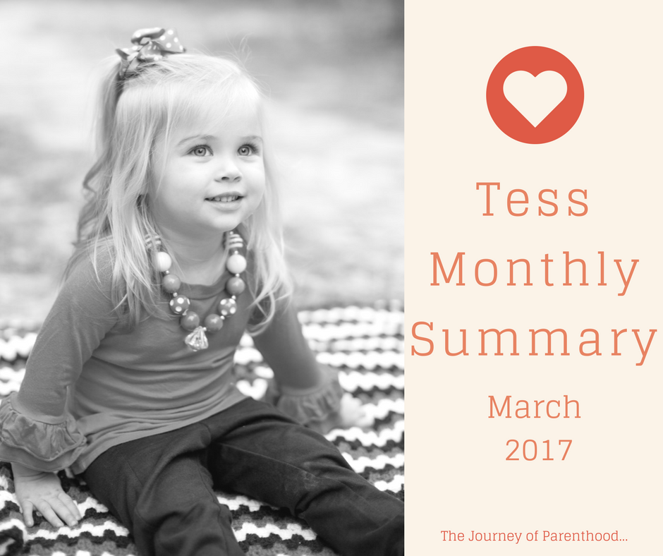 Tess Monthly Summary: March