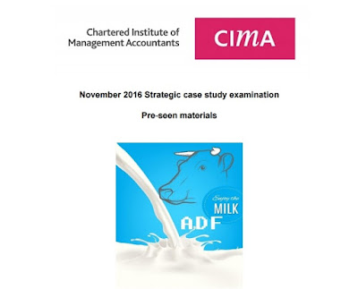 CIMA SCS November 2016 Pre-seen was released