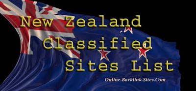Free Classified Sites List in New Zealand