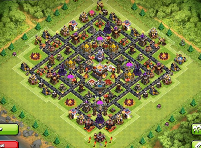 5 TOP Base Trophy TH 11 , COC , CLASH OF CLANS