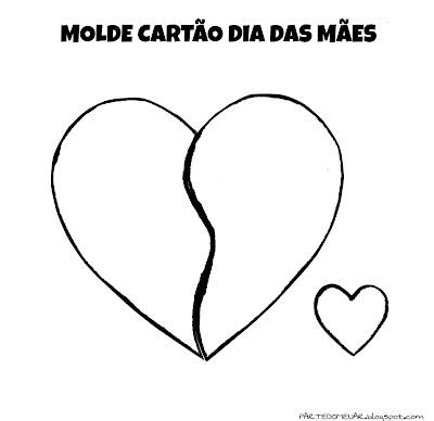 molde coração