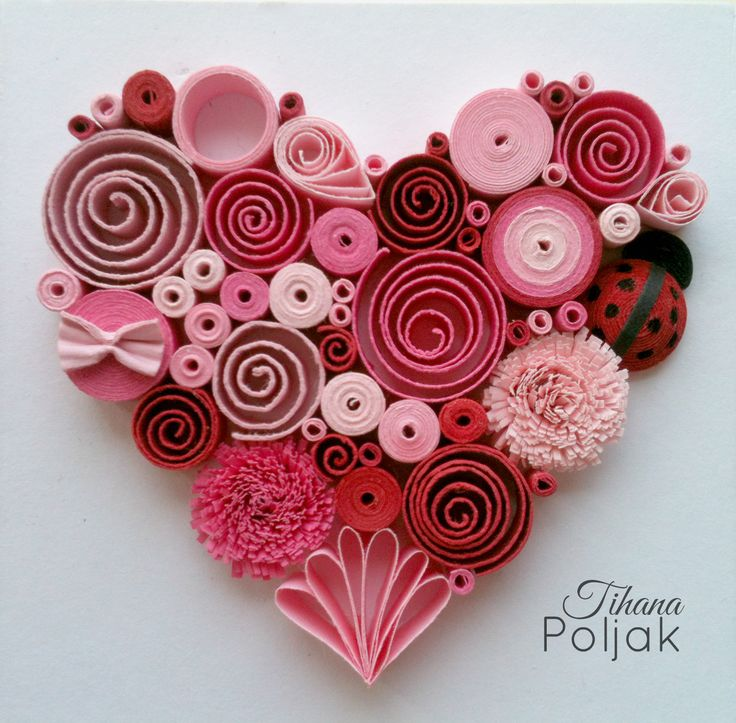 Valentine Cards Handmade Quilling Work Love Cards Quilling Heart