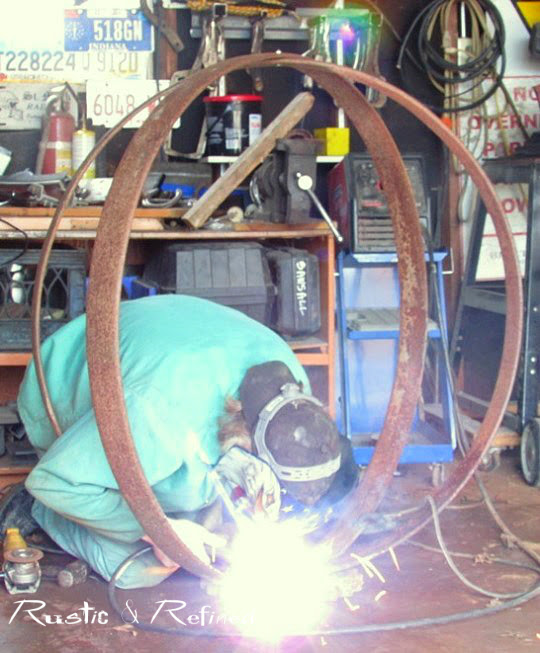 welding rusty steel