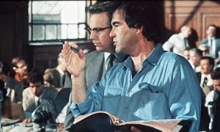 Oliver Stone directing Kevin Costner in JFK 1991
