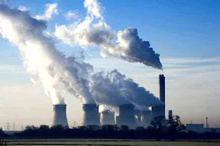 Pollution from coal-fired power station