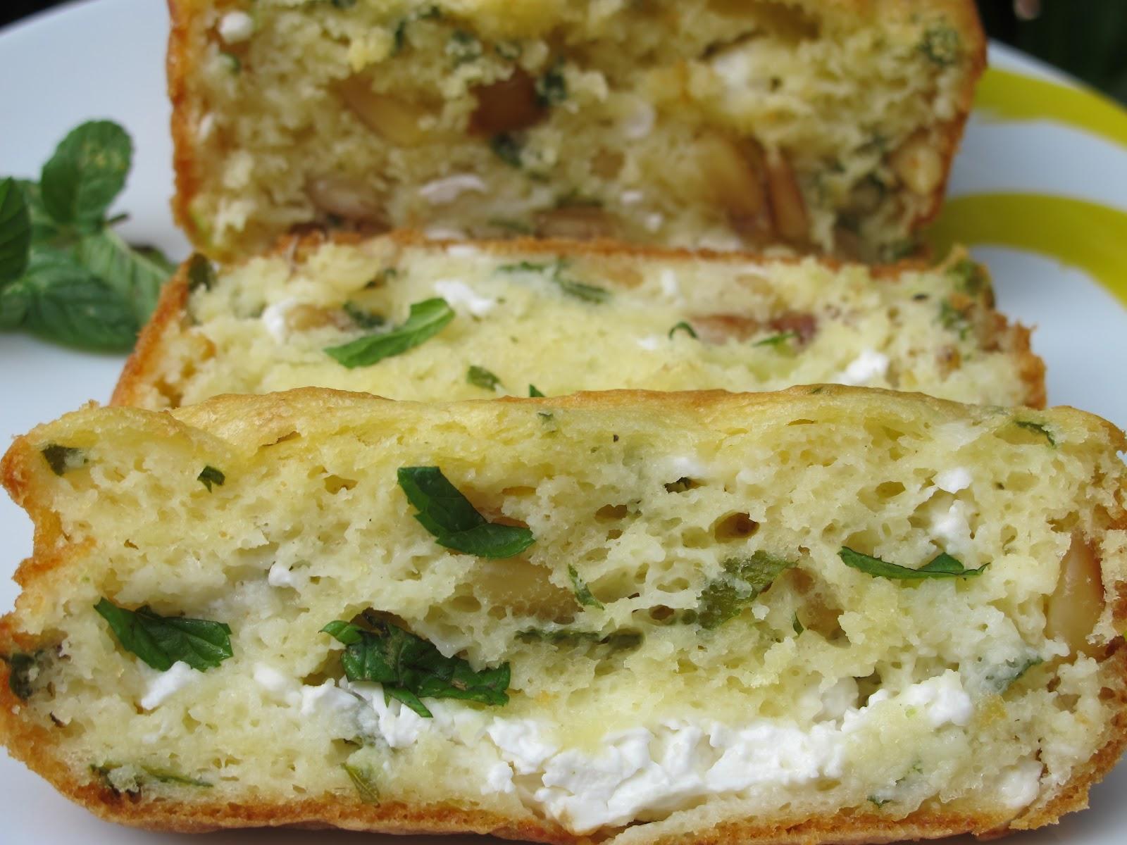 Cake Olive Chevre Pignon