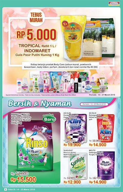 Katalog Promo INDOMARET Super Hemat Periode 14 - 20 Maret 2018