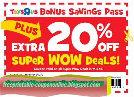 image about Printable Toysrus Coupons titled Toys r us printable : Visuals for december