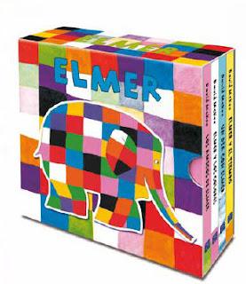 Pequeña biblioteca Elmer ele elefante multicolor