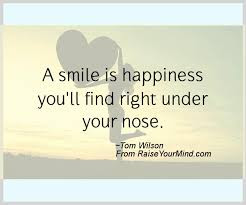Smile Quotes images:a smile is happiness you'll find right under your nose.