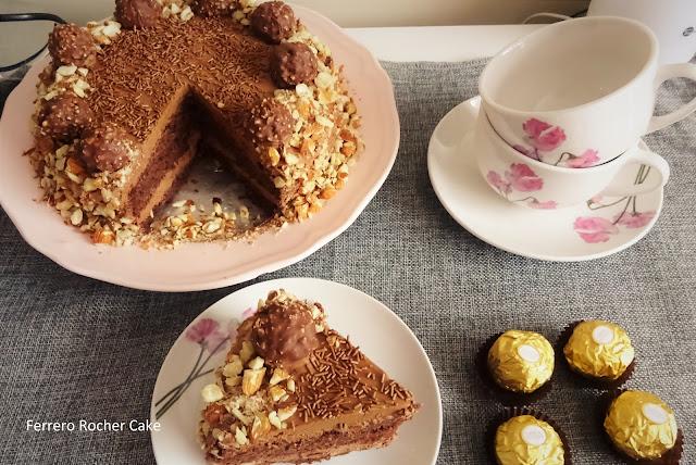 ferrero-rocher-chocolate-cake-birthday-high-tea-tea-trolley-birthday-party-hazel-nuts-cocoa-butter-flour-almonds