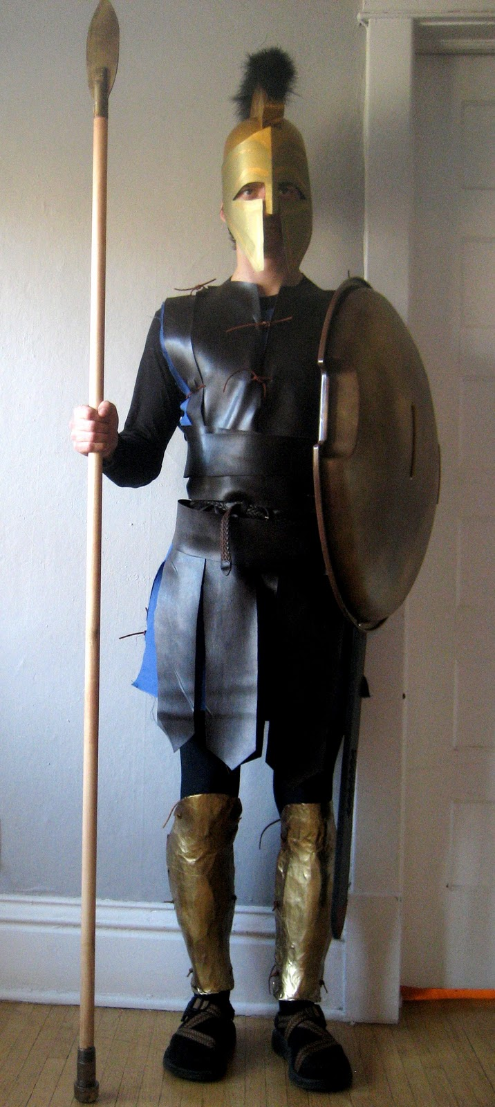 Chuck Does Art DIY Spartan Hoplite Costume How to make a faux-leather Linothorax inspired by Gladiator costume no sewing required! & Chuck Does Art: DIY Spartan Hoplite Costume: How to make a faux ...