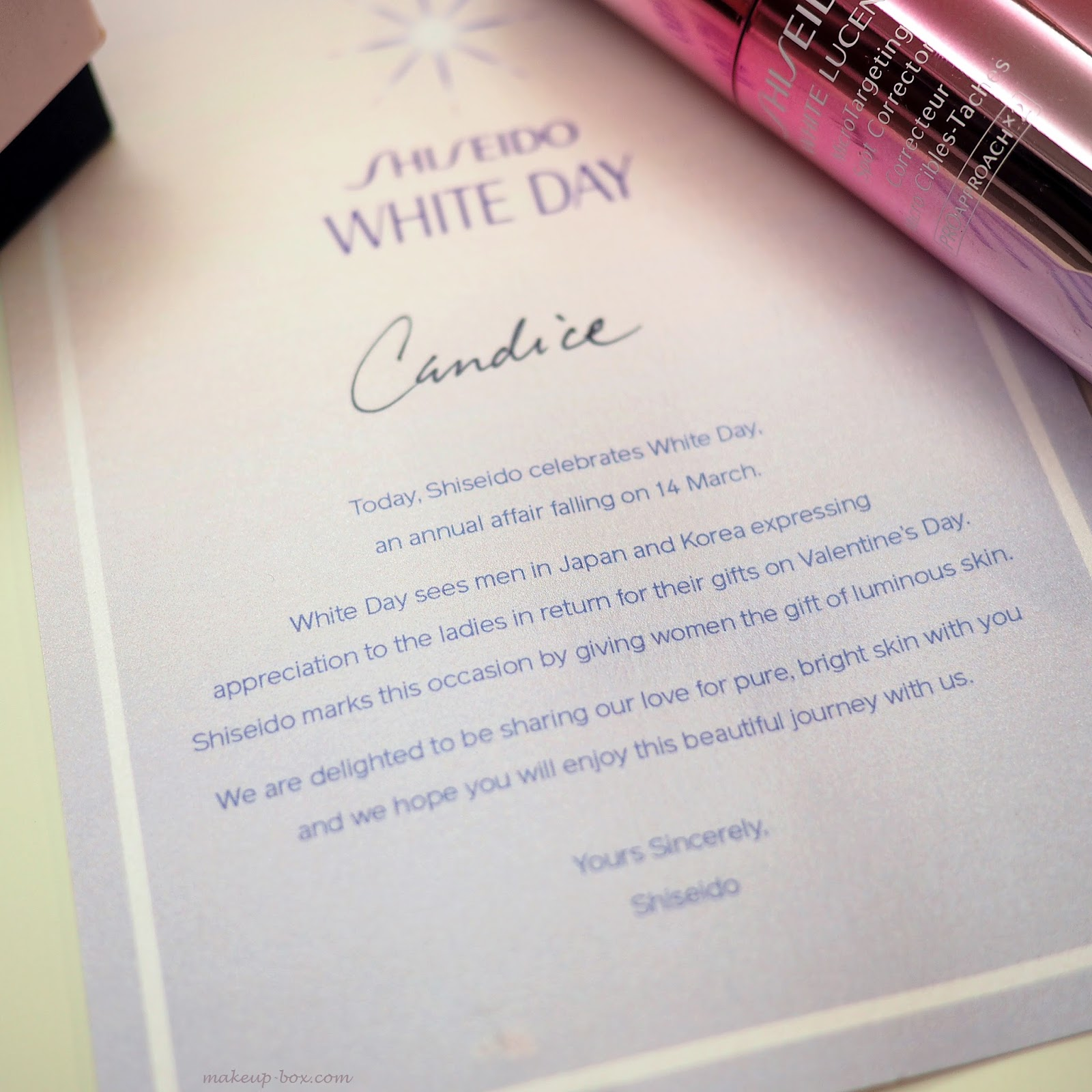 The Makeup Box Happy White Day