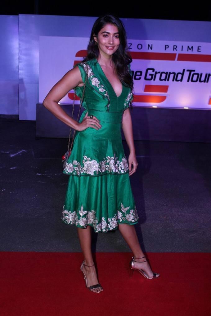 Pooja Hegde Photos At Amazon Original The Grand Tour Red Carpet Screening
