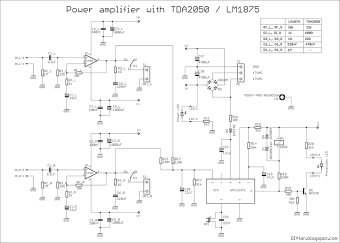Surprising Tda2050 Amplifier Circuit Diagrams Wiring Diagram Wiring Cloud Toolfoxcilixyz