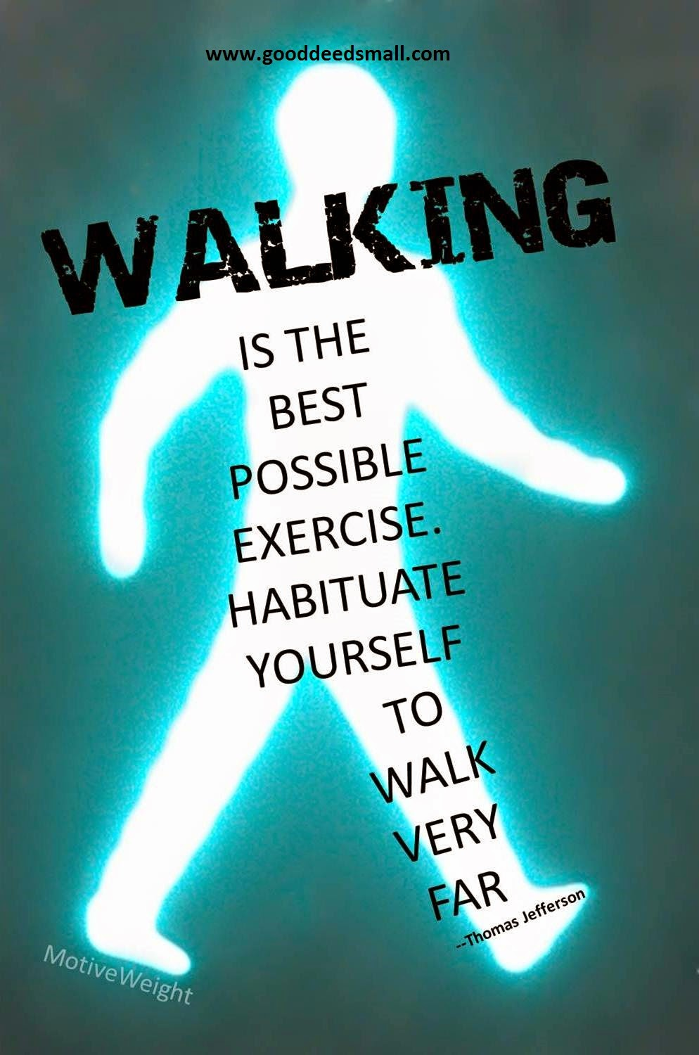 walking is good for you