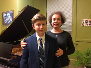 FSPA piano student Peter Bryan with Ida Zelman