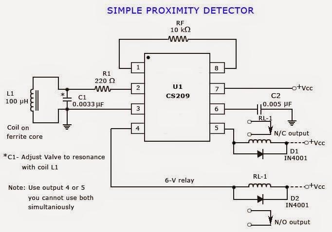 Proximity Detector or Proximity Sensor Circuits