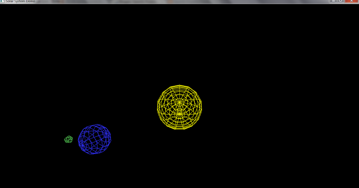 OpenGL Projects: Solar System Mini-Project in OpenGL