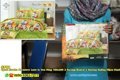 Sprei Kendra Premiere Love Is You King 180×200 2 Sarung Bantal 2 Sarung Guling Hijau Kuning Orange Jingga Kartun Anak Remaja Dewasa Serat Polimer