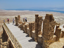 Northern Palace, Masada Royal Retreat, Israel (Dead Sea in background).