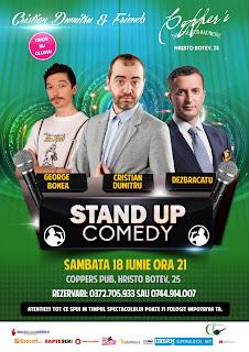 Stand-Up Comedy Sambata 18 Iunie Bucuresti