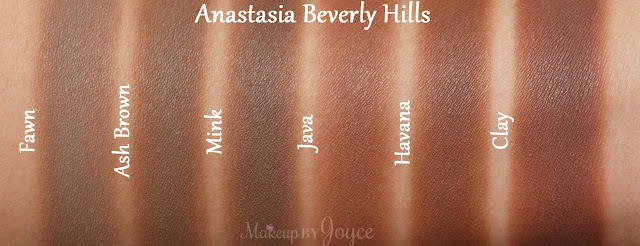 Anastasia Beverly Hills Contour Refill Matte Powder Fawn Ash Brown Havana Swatch