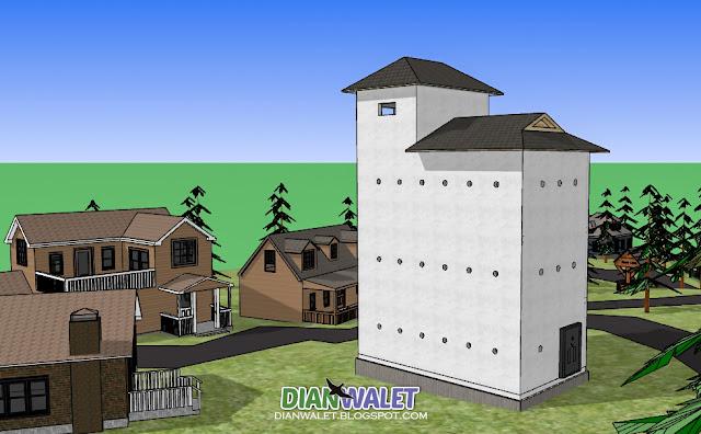 Desain Gedung Walet (RBW) 4X7 Paket Hemat (Full Video)