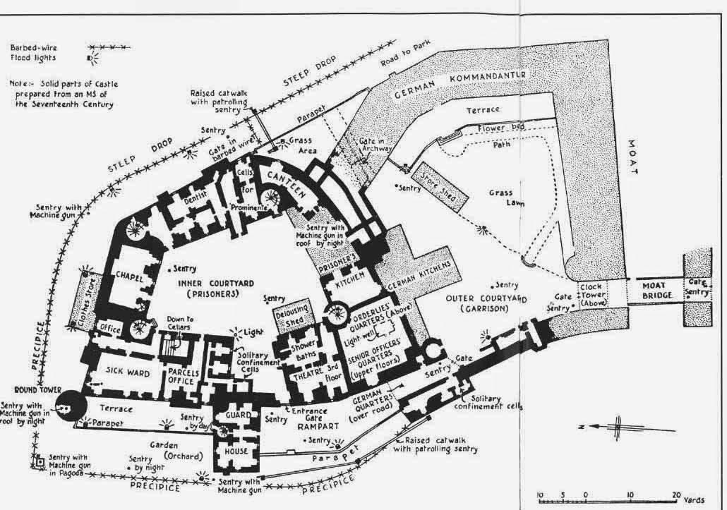 Mapa Castillo de Colditz