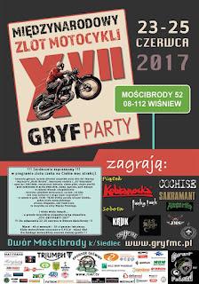June 23 – June 25 2017 XVII Gryfparty 2017 - Międzynarodowy Zlot Motocyklowy