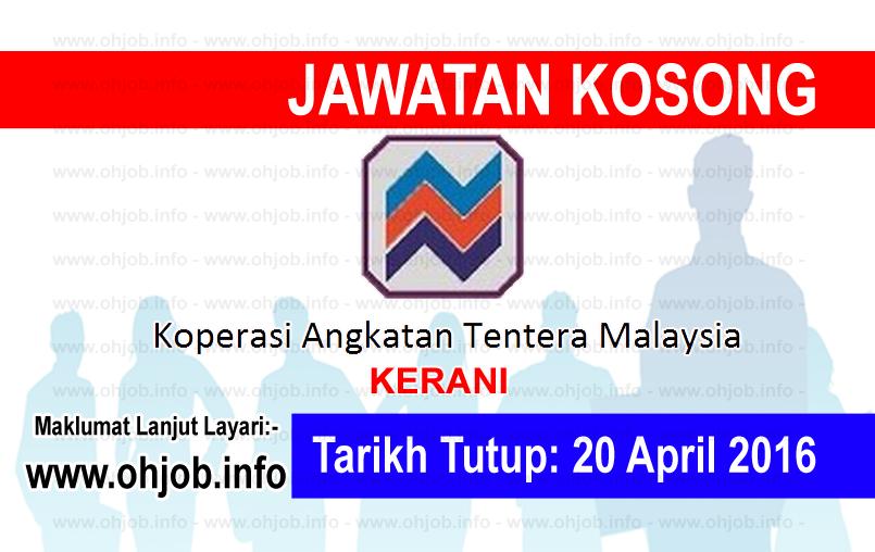 Jawatan Kerja Kosong Koperasi Angkatan Tentera Malaysia Berhad logo www.ohjob.info april 2016