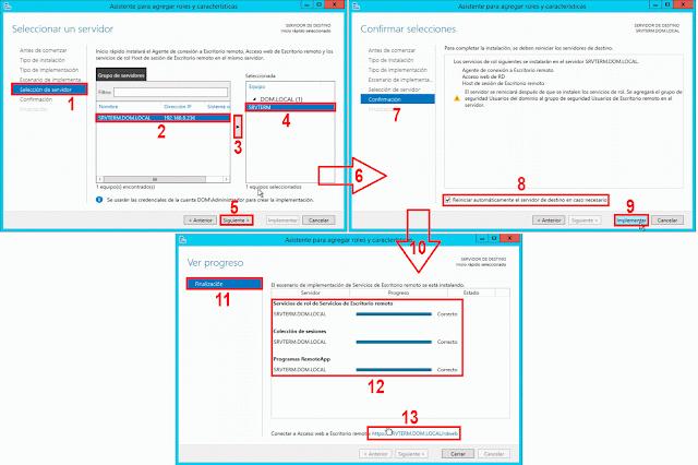 Reiniciar automaticamente el servidor de destino en caso necesario.