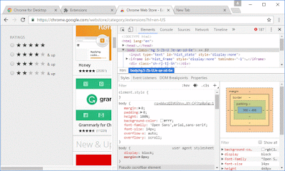 Chrome Developer Tools pane
