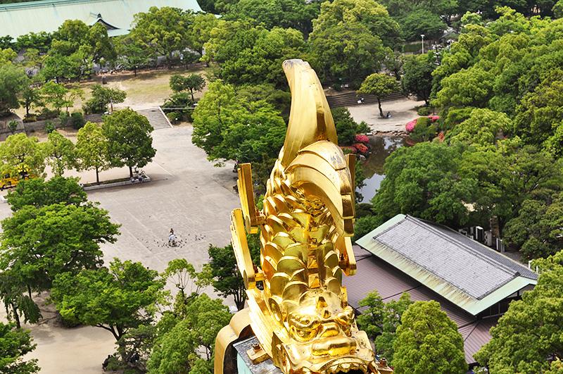 Zamek w Osace taras