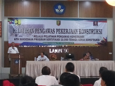 Buka Pelatihan Pengawasan Pekerja Konstruksi, Wagub Ingatkan OTT di Lampung Sebagai Pembelajaran