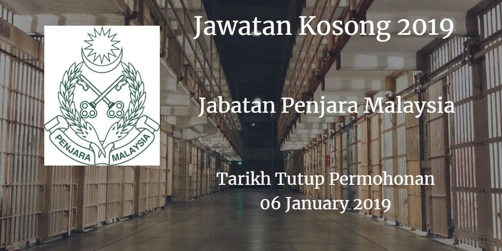 Jawatan Kosong Jabatan Penjara Malaysia 06 January 2019