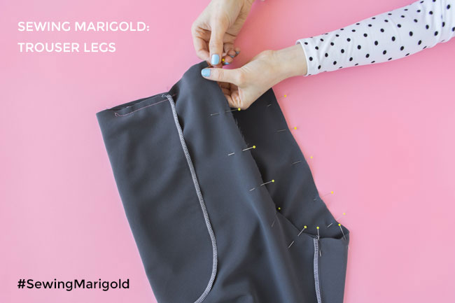 Sewing the Marigold jumpsuit - How to sew trouser legs together