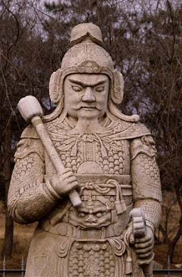 Ming Dynasty Warrior Statue