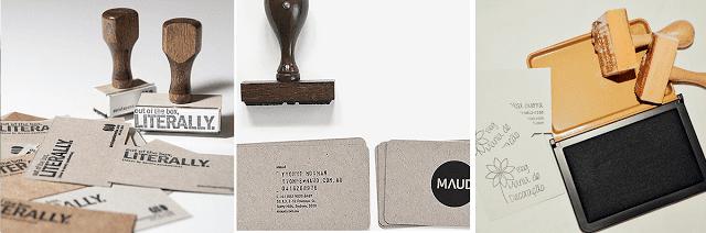 cartão de visitas handmade