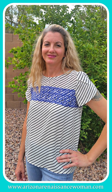 THML Samford Petal Sleeve Top - August 2015 Stitch Fix Review