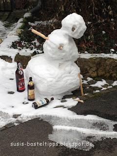 betrunkener Schneemann, Foto von unabh. Stampin' Up! Demonstratorin in Coburg