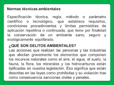 3. Normas técnicas ambientales